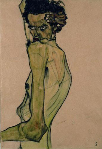 Schiele-selfportrait