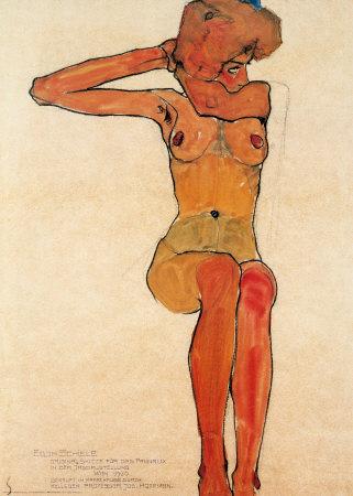 Egon-schiele-nu-assis-1910